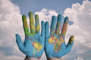 mãos mundo